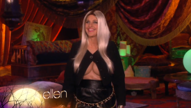 Speaking of delightful - Ellen as Nicki Minaj. Could the fake underboob cleavage be better? Could the wig look appropriately weirder? Is there anyone else I would want to wear this costume? All answers are no. (I also wonder who MAKES fake underboob cleavage. It's like the dirty, hilarious version of those fake abs in little boy's superhero costumes.)